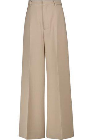 Ami Women Wide Leg Trousers - Wide-leg wool palazzo pants