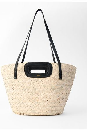 Maje Basket Bag In Palm And Leather