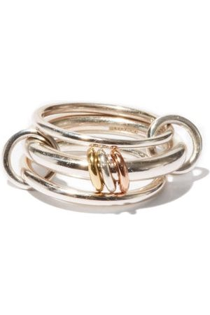 SPINELLI KILCOLLIN Men Rings - Gemini , Rose-gold & Yellow-gold Ring - Mens
