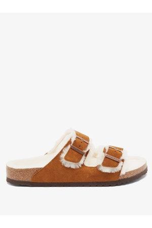 Birkenstock Men Sandals - Arizona Buckled Suede Sandals - Mens