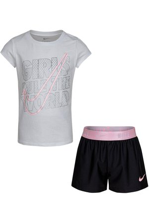 Nike Younger Girls Practice Perfect 2 Piece Short Sleeve T-Shirt And Shorts Set