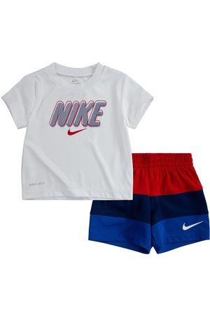Nike Boys Short Sleeve - Younger Boy Dri-Fit Short Sleeved T-Shirt & Blocked Short Set - Multi