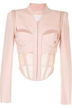 DION LEE Suspended lace bustier jacket