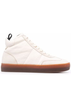 Officine creative Kombined high-top leather trainers - Neutrals