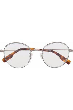 McQ Round-frame tortoiseshell glasses