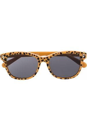 Stella McCartney Leopard-print square-frame sunglasses