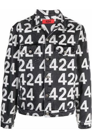 424 FAIRFAX Logo-print cotton-blend denim jacket