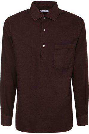 Loro Piana Andre Ginestra Dyed Cotton Polo Shirt