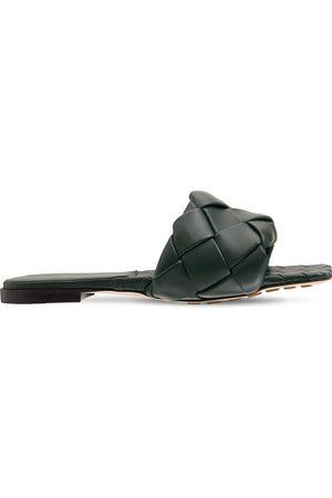 Bottega Veneta 10mm Lido Leather Slide Flats