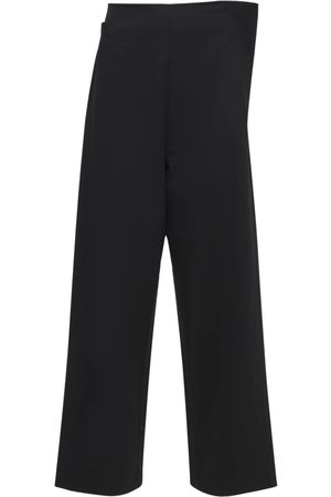 Y-3 Women Trousers - Classic Wool Blend Stretch Formal Pants