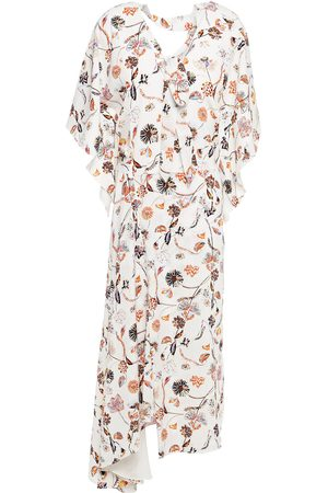 Roland Mouret Women Midi Dresses - Woman Pussy-bow Printed Satin-crepe Midi Dress Size 10