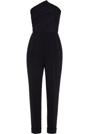 Roland Mouret Women Jumpsuits - Woman Haye Strapless Jacquard-paneled Crepe Jumpsuit Size 10
