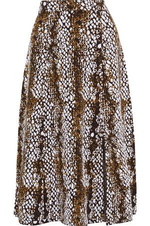 ULLA JOHNSON Woman Nina Wool-jacquard Midi Skirt Animal Print Size L