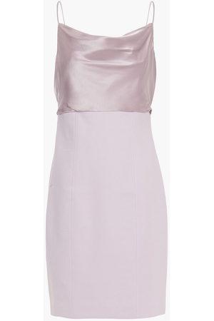 Cinq A Sept Woman Karina Draped Silk Satin-paneled Cady Dress Lilac Size 10
