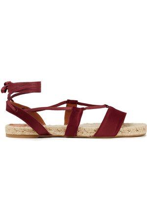 Castaner Castañer Woman Pasha Satin Espadrille Sandals Claret Size 36