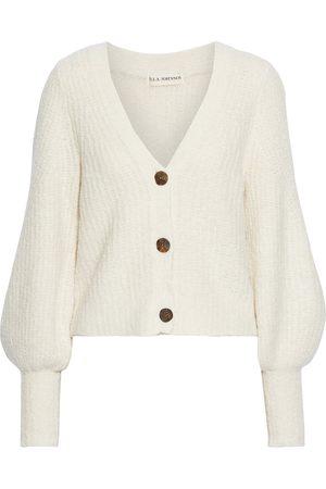ULLA JOHNSON Women Cardigans - Woman Polline Cropped Alpaca-blend Cardigan Cream Size L