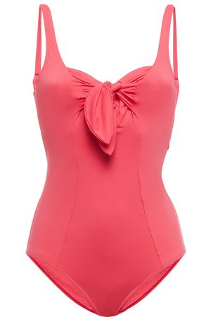 Maison Lejaby Woman Norma Jeane Knotted Swimsuit Coral Size 32 C