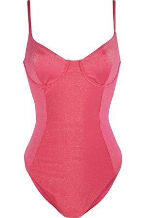 ONIA Women Swimsuits - Woman Isabella Metallic Underwired Swimsuit Papaya Size L
