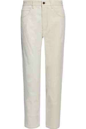 REJINA PYO Women Straight - Woman Toby Two-tone High-rise Straight-leg Jeans Ivory Size 28