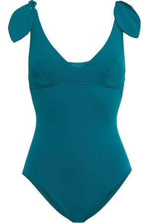 Maison Lejaby Woman Norma Jeane Knotted Swimsuit Teal Size 32 B