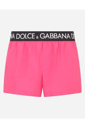 Dolce & Gabbana Men Swim Shorts - Beachwear - Short swim trunks with branded stretch waistband male 2