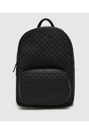 Emporio Armani Men's Jacquard Eagle Backpack Bag