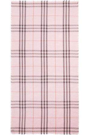 Burberry TB check-pattern scarf