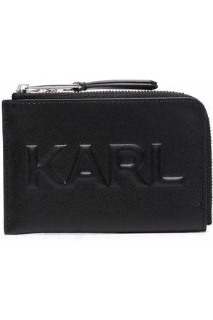 Karl Lagerfeld Embossed-logo zip-up wallet