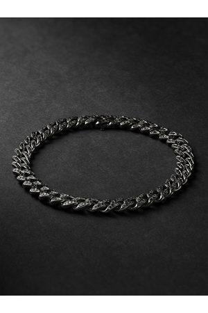 Shay Men Bracelets - Blackened Gold Diamond Bracelet