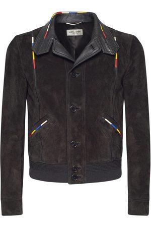 Saint Laurent Men Leather Jackets - Vintage Leather Jacket