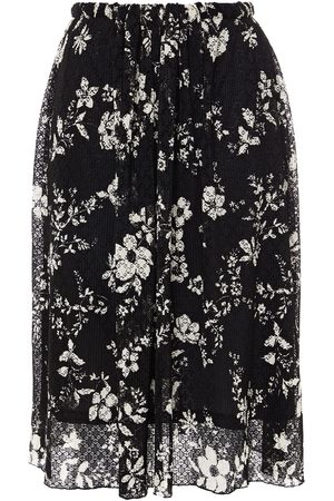 See by Chloé Women Printed Skirts - See By Chloé Woman Gathered Floral-print Lace Skirt Size L