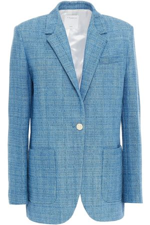 Sandro Women Blazers - Woman Cotton-tweed Blazer Mid Denim Size 36