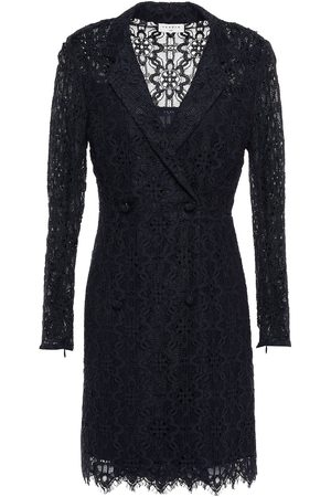 Sandro Women Printed Dresses - Woman Nanie Double-breasted Corded Lace Mini Wrap Dress Navy Size 34