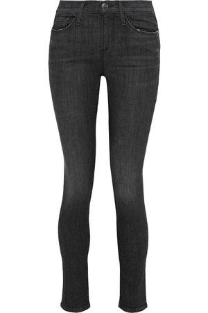 Frame Women Skinny - Woman Le Skinny De Jeanne Mid-rise Skinny Jeans Size 24