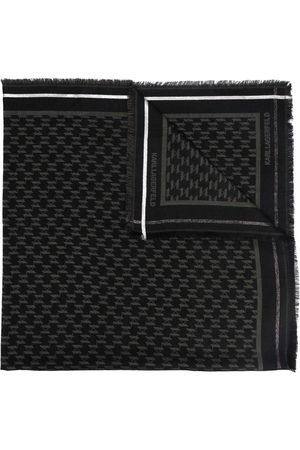Karl Lagerfeld K/Monogram jacquard wool-blend scarf