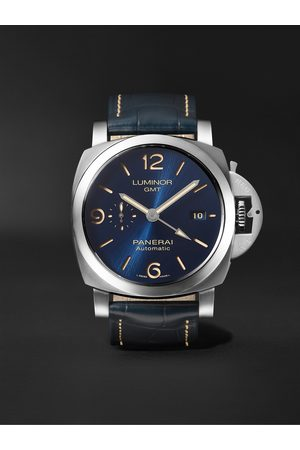 PANERAI Men Watches - Luminor GMT Automatic 44mm Stainless Steel and Alligator Watch, Ref. No. PAM01033
