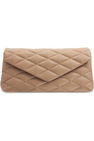Saint Laurent Women Clutches - Sade Puffer Leather Clutch