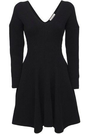 Alexander McQueen Wool & Cashmere Knit Mini Dress