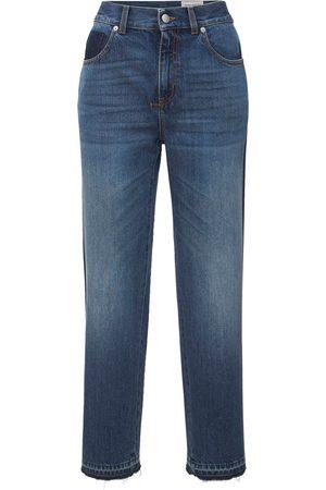 ALEXANDER MCQUEEN High Waist Straight Leg Denim Jeans