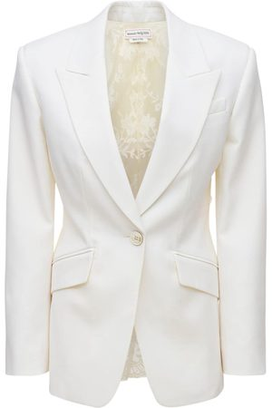 Alexander McQueen Wool & Lace Classic Blazer