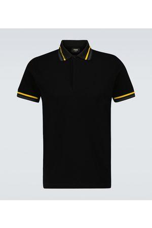 Fendi Men Polo Shirts - Short-sleeved cotton polo shirt
