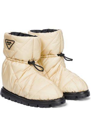 Prada Quilted nylon snow boots