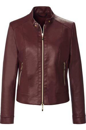 Uta Raasch Leather look jacket stand-up collar size: 10