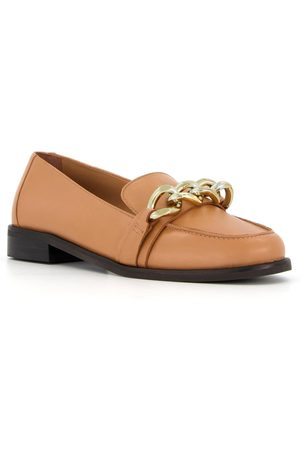 Dune Women Loafers - Gilmore Chain Trim Leather Loafer