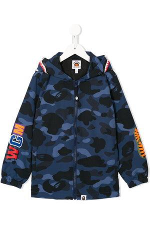A Bathing Ape Boys Bomber Jackets - Camouflage print hooded jacket