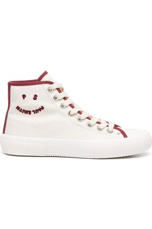 Paul Smith Embroidered logo hi-top sneakers - Neutrals