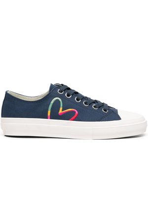 Paul Smith Heart print lace-up sneakers