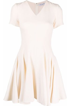 Dior 2010s pre-owned flared pleated dress