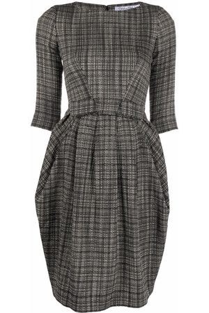 Dior 2010s pre-owned bow detail tweed dress