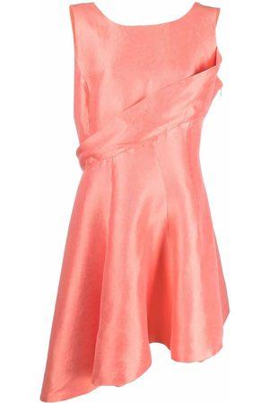Dior 2010s pre-owned asymmetric silk dress